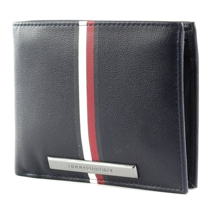 TOMMY HILFIGER Corporate Plaque Stripe CC Flap and Coin Sky Captain