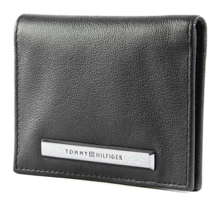 TOMMY HILFIGER Corporate Plaque Bi Fold Black