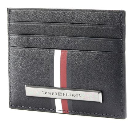 TOMMY HILFIGER Corporate Plaque Stripe CC Holder Sky Captain