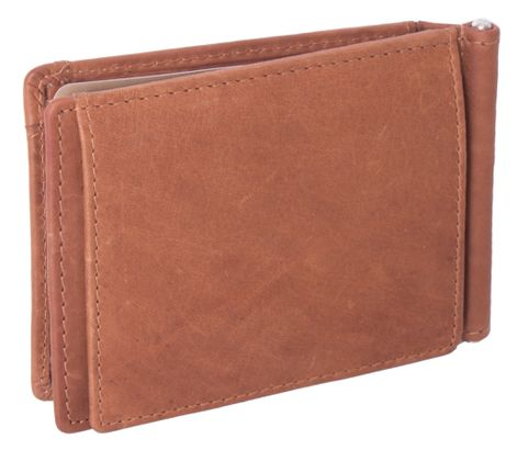 The Chesterfield Brand Dave Clip Wallet Cognac
