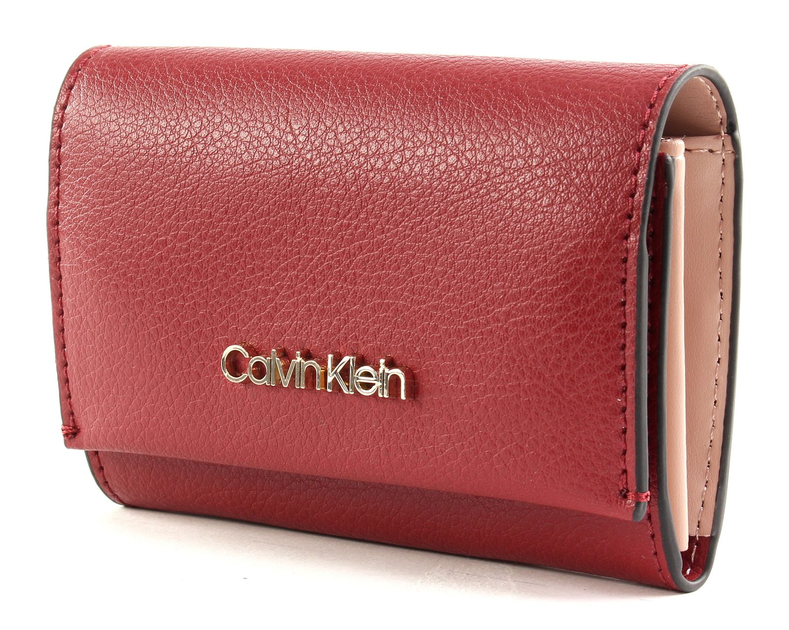 Calvin Klein Enfold Cardholder Wallet Barn Red