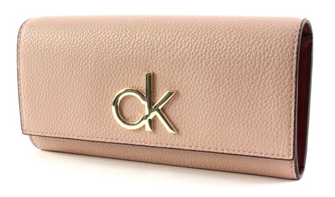 Calvin Klein Re-Lock Large Trifold Nude
