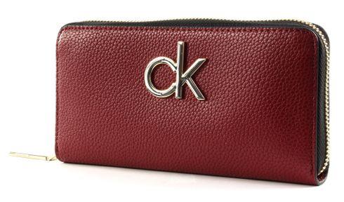 Calvin Klein Re-Lock Large Zip Around Barn Red