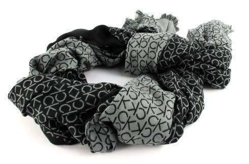 Calvin Klein Industrial Mono Jaquard Scarf Black