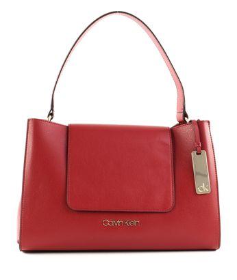 Calvin Klein Enfold Top Handle Barn Red