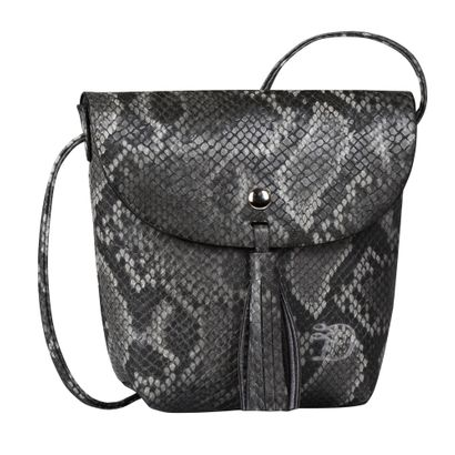 TOM TAILOR Ida Snake Flapbag Black