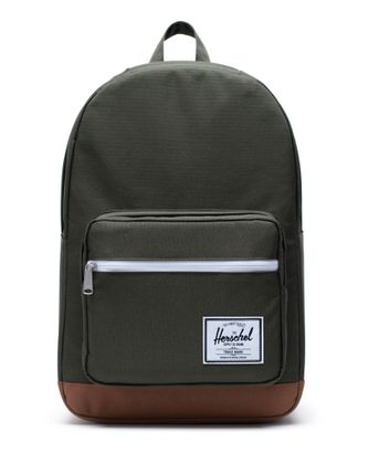 Herschel Pop Quiz Backpack Dark Olive / Saddle Brown