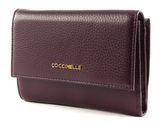 COCCINELLE Metallic Soft Flap Wallet Plum buy online at modeherz