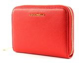 COCCINELLE Metallic Saffiano Small Zip Around Polish Red online kaufen bei modeherz