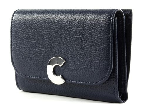COCCINELLE Craquante Small Flap Wallet Ink