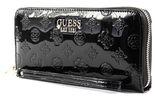 GUESS Peony Shine SLG Large Zip Around Black online kaufen bei modeherz