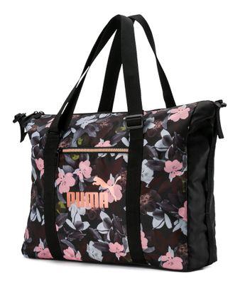 PUMA WMN Core Seasonal Duffle Bag Puma Black-Floral AOP