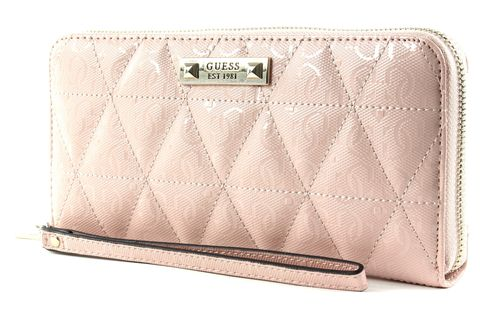 GUESS Tiggy SLG Large Zip Around Blush