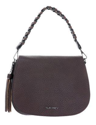 SURI FREY Piggy Handbag with Flap M Brown