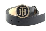 TOMMY HILFIGER TH Round Buckle Belt W90 Sky Captain buy online at modeherz