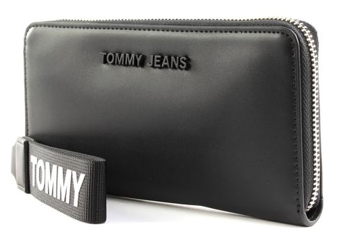 TOMMY HILFIGER TJW Femme PU Large Zip Around Wallet Black