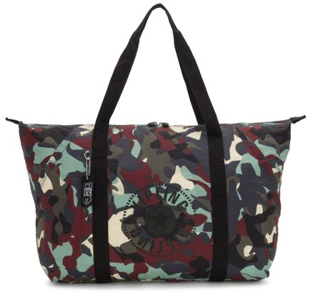 kipling Packable Art Tote L Camo Large Light