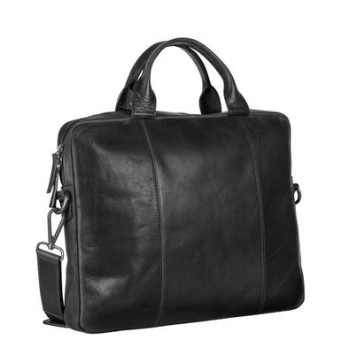 LEONHARD HEYDEN Roma Slim Zipped Briefcase 1 Compartment Black