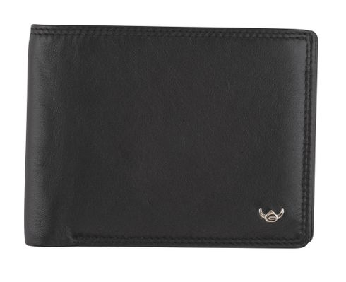 Golden Head Polo Billfold Wallet With Zipped Coin Compartment Black