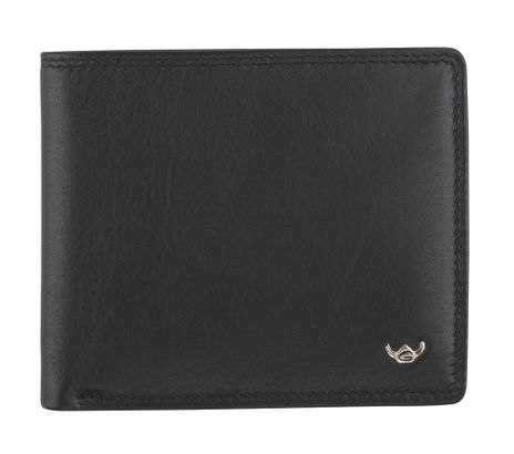 Golden Head Polo Coin Wallet Black