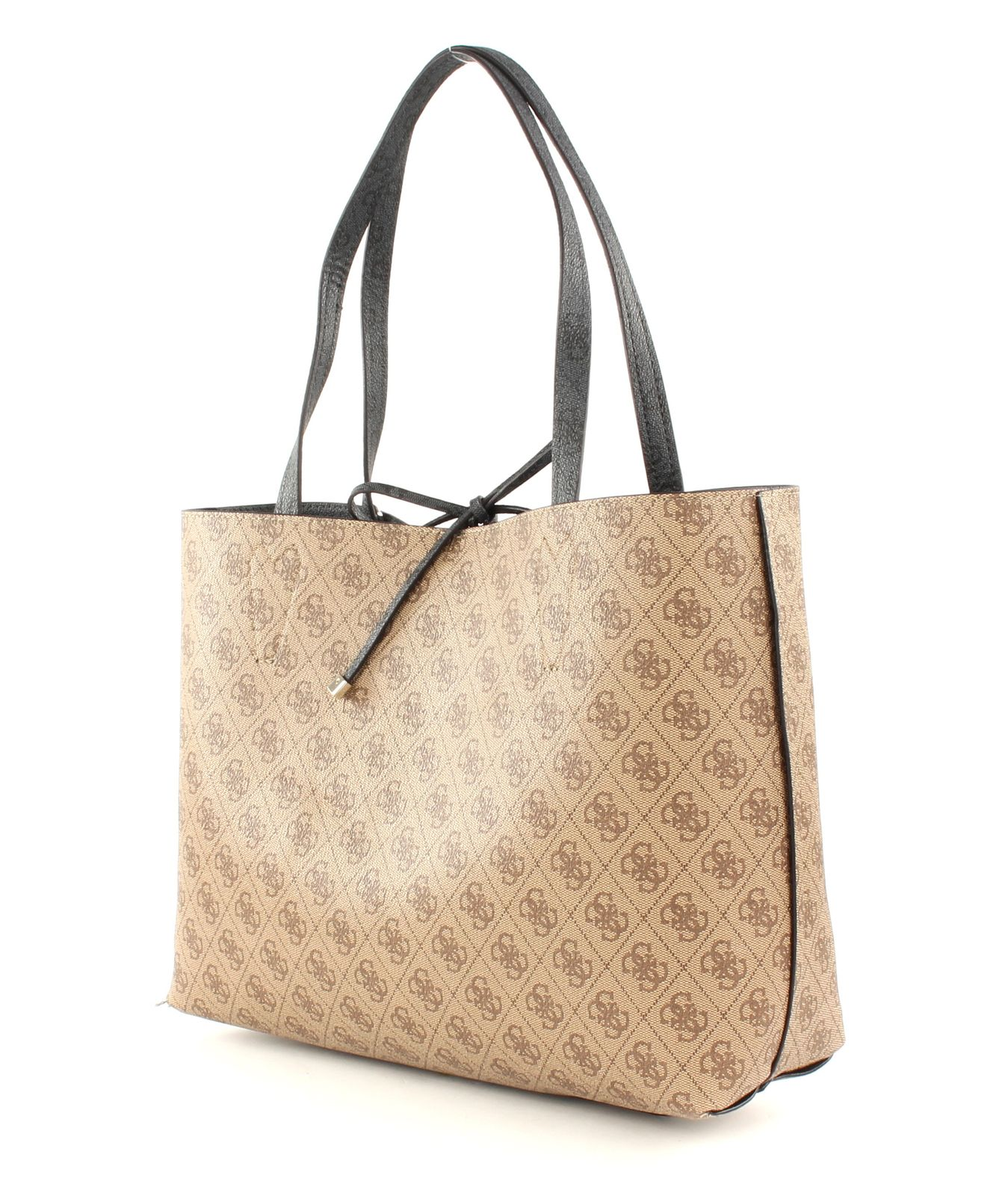 GUESS Damen Handtasche Bobbi Inside Out Taupe Clutches