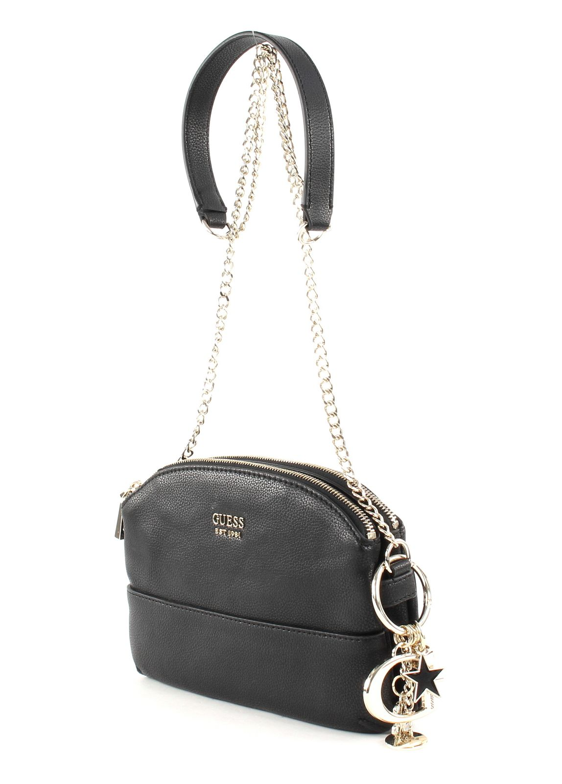 GUESS Lila Mini Double Zip Crossbody Black
