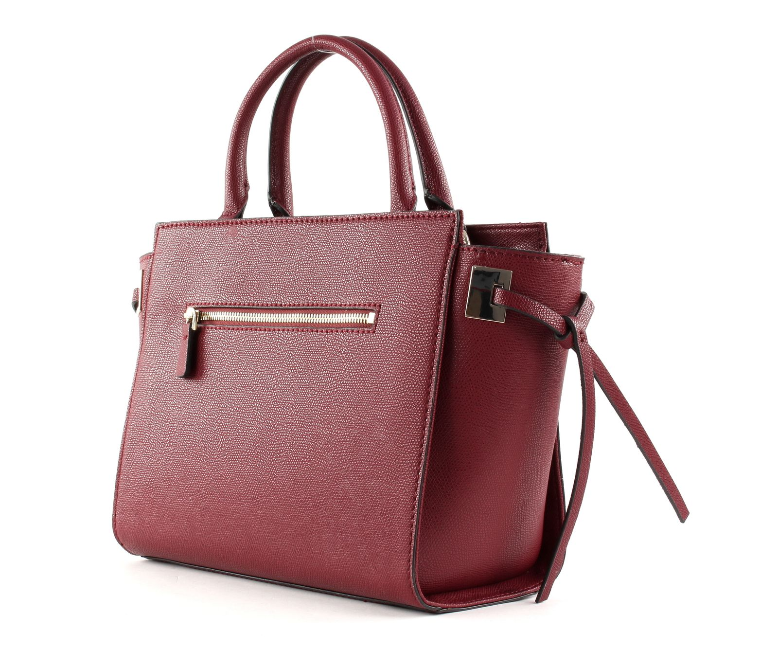 GUESS Open Road Society Satchel Merlot