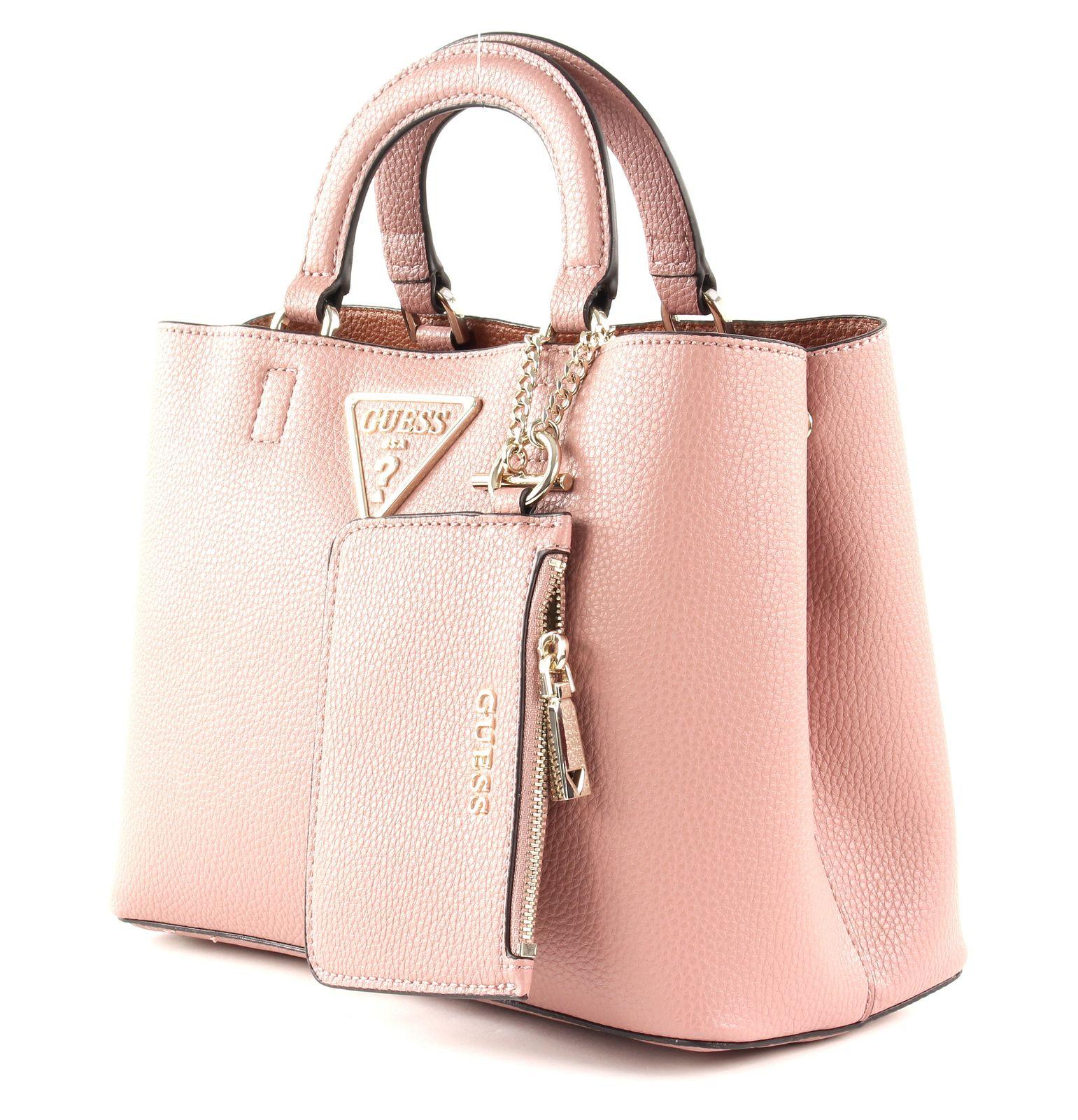 GUESS Aretha Girlfriend Satchel Handtasche Tasche Rosewood Rosa Neu