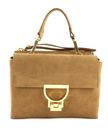 COCCINELLE Arletti's Suede Top Handle Bag Tobacco buy online at modeherz