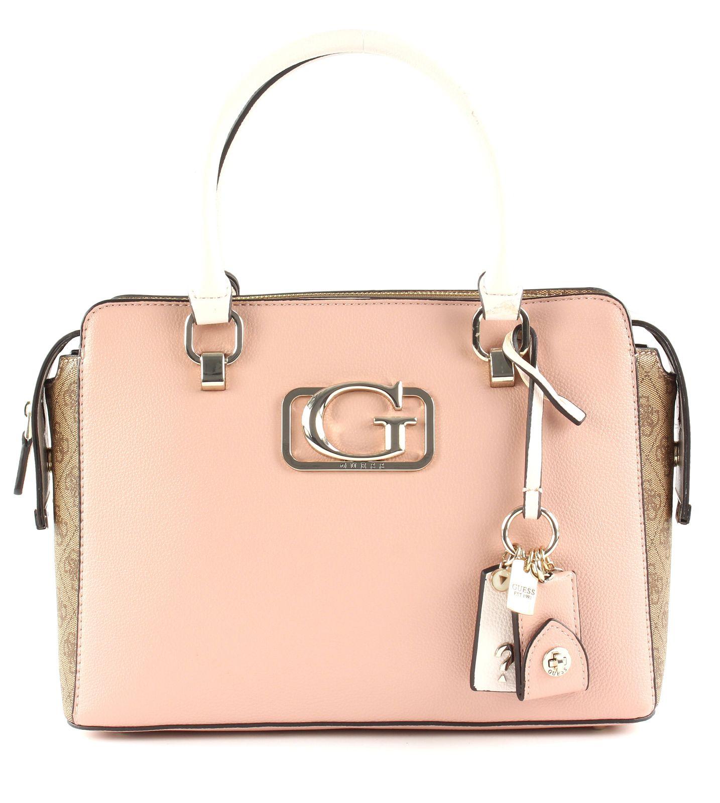 Annarita Girlfriend Satchel Bags Top Handle Bags Pink GUESS