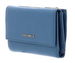 COCCINELLE Metallic Soft Flap Wallet Denim buy online at modeherz