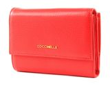 COCCINELLE Metallic Soft Flap Wallet Polish Red buy online at modeherz