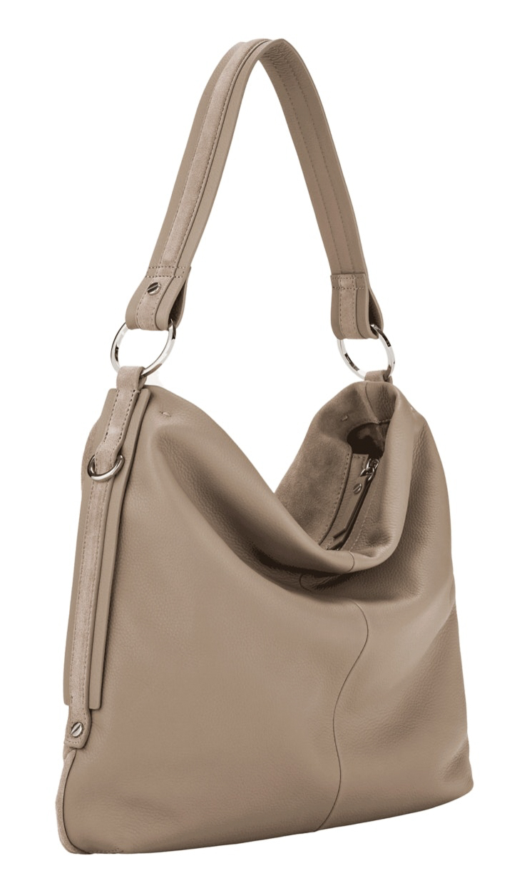 Liebeskind Berlin Rossi Hydro Suede Slouchy Base Hobo M Taupe