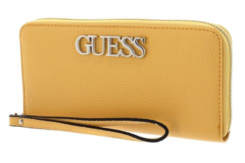 GUESS Uptown Chic SLG Large Zip Around Yellow