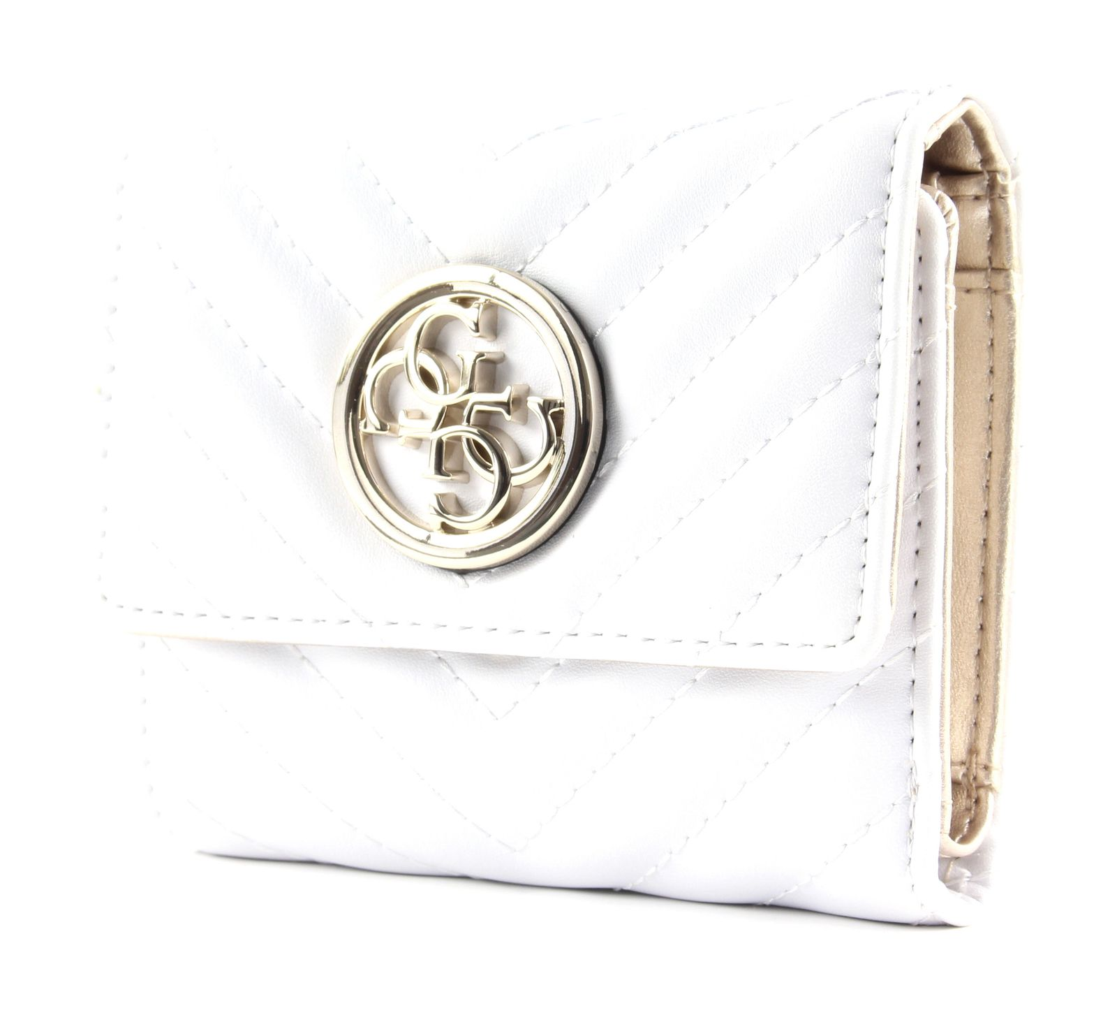 Dettagli su GUESS borsa Blakely SLG Small Trifold White