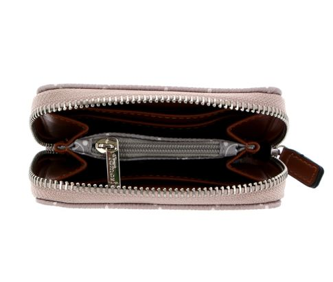 Small Zip Around Wallet Taupe