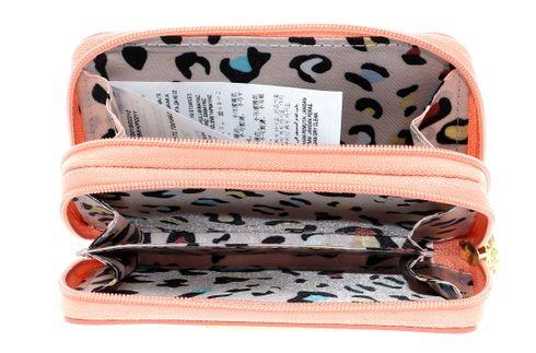 Details zu GUESS Bahia Double Mini Zip Wallet Geldbörse Black Schwarz Neu