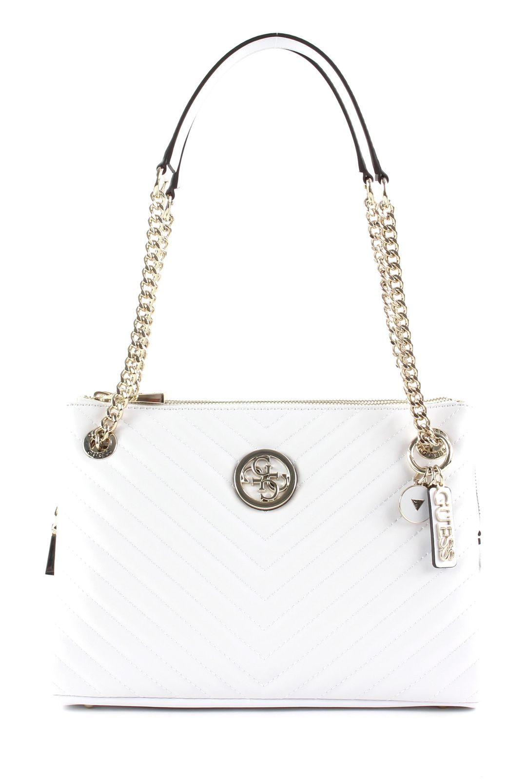 GUESS Blakely Status Luxe Satchel White