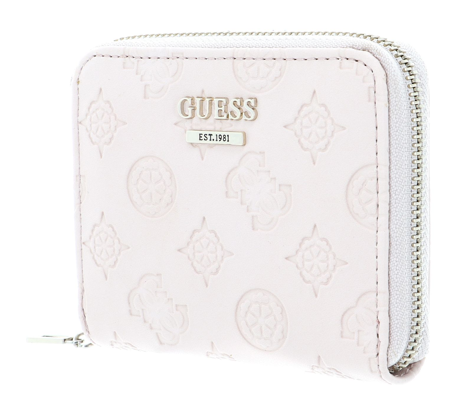GUESS Logo Love SLG Small Zip Around Blush
