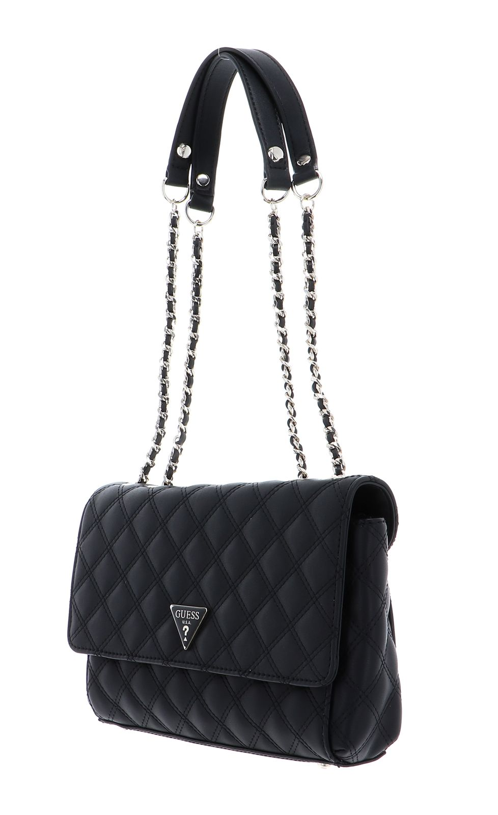 Details zu GUESS Cessily Convertible Xbody Flap Umhängetasche Tasche Black Schwarz Neu