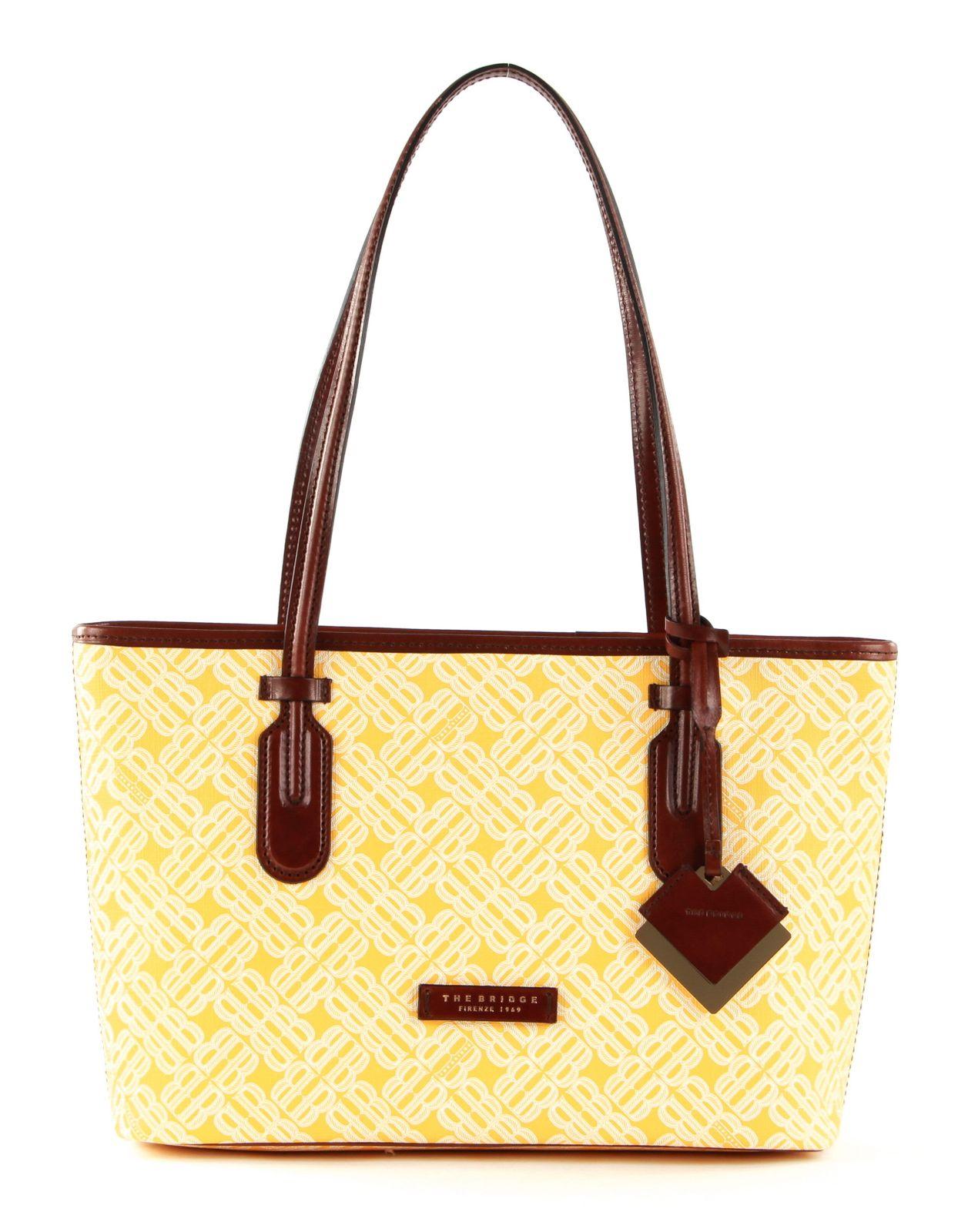 THE BRIDGE Anna Shopping Bag Giallo Girasol   Buy bags, purses ...