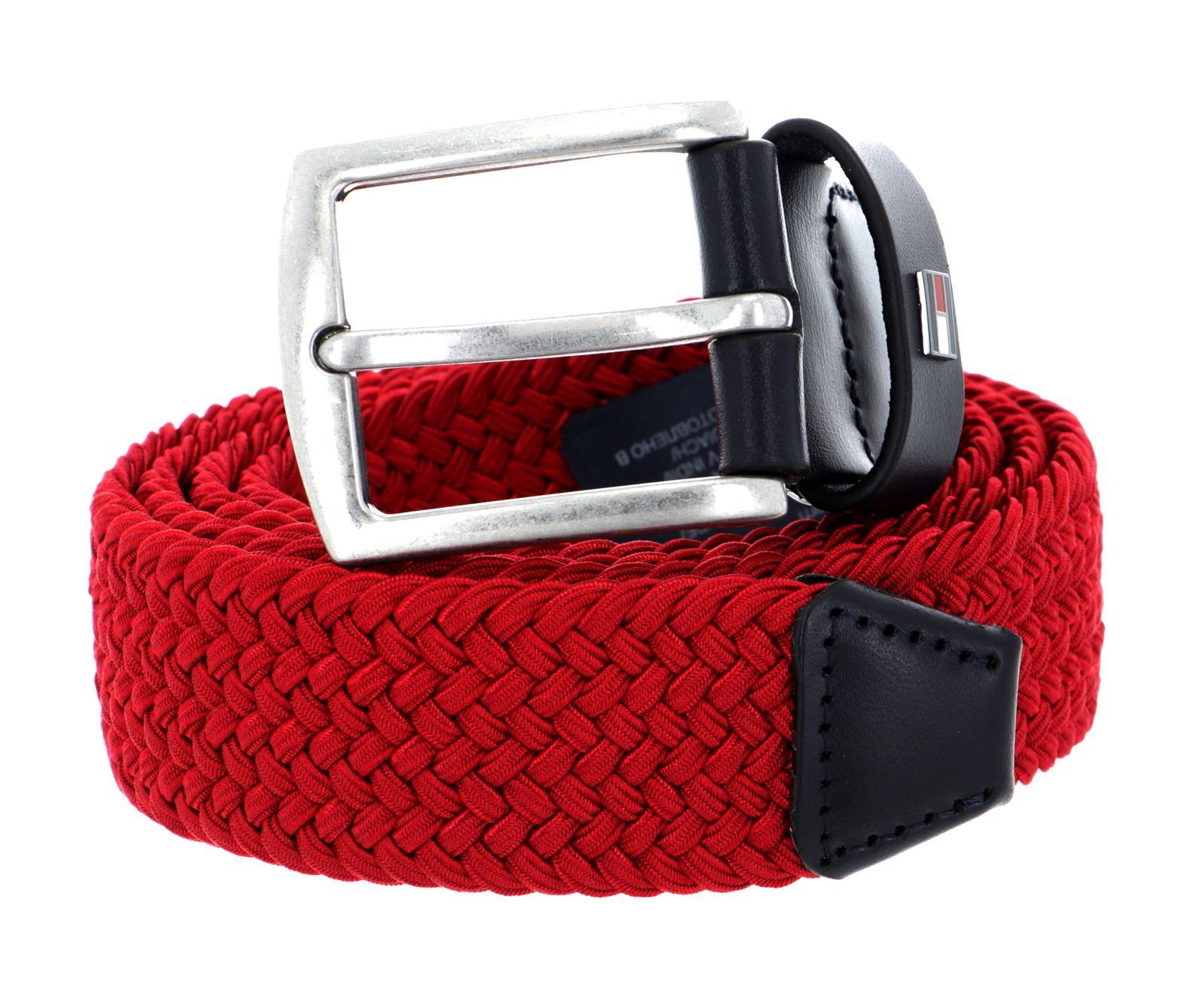 TOMMY HILFIGER Denton Elastic Belt 3.5 W100 Gürtel Accessoire Barbados Cherry
