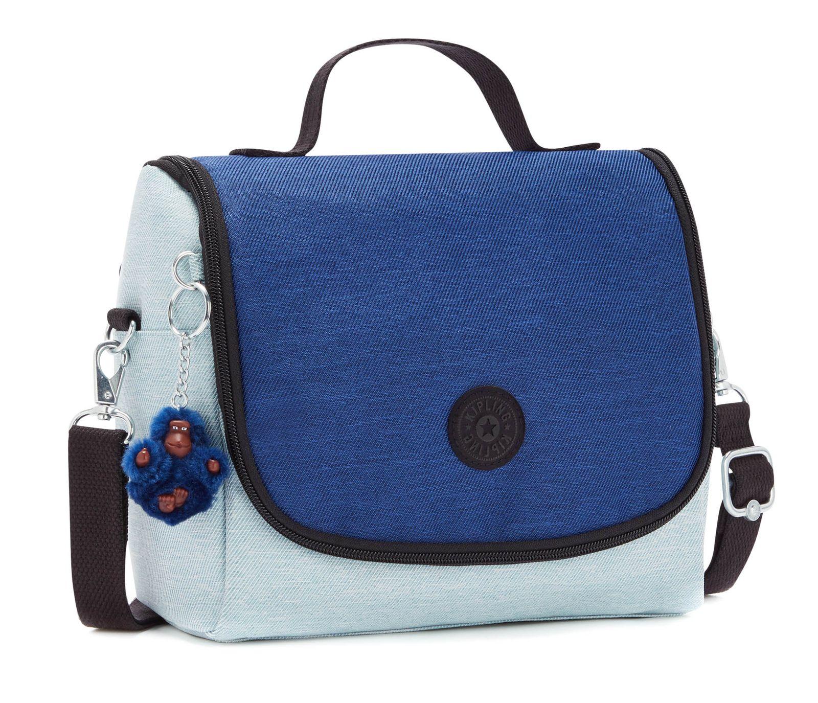 kipling Back To School Print New Kichirou Lunchbox L Fresh Denim Blue