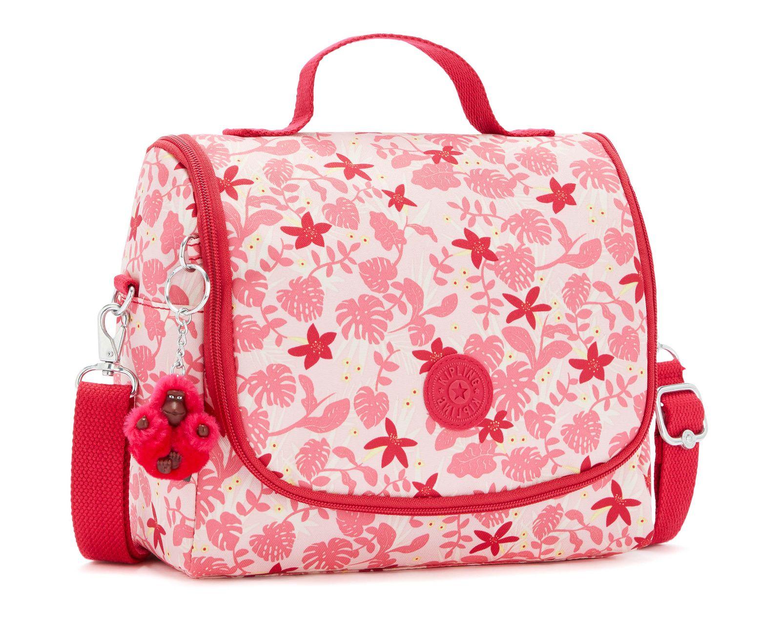 kipling Back To School Print New Kichirou Lunchbox L Pink Leaves