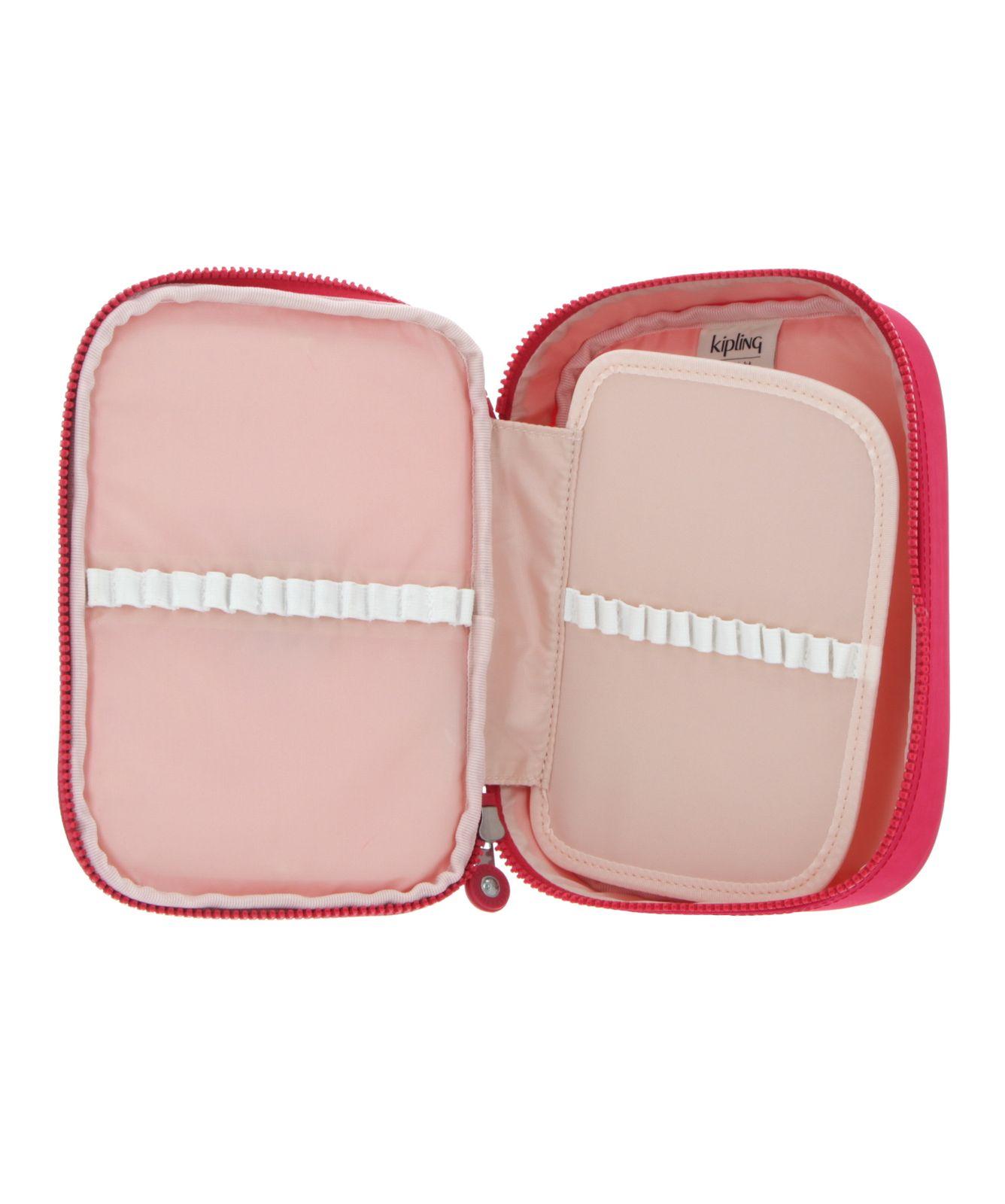 kipling Back To School 100 Pens Pencase L True Pink