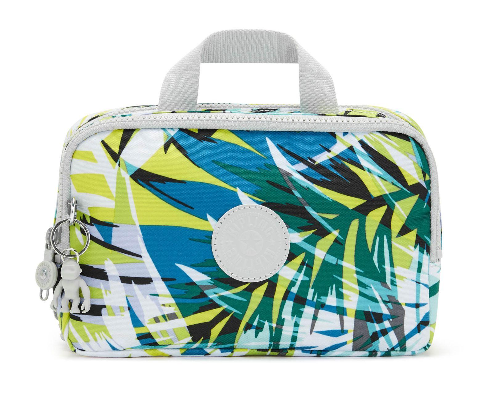 kipling Basic Print Toiletry Bag M Bright Palm