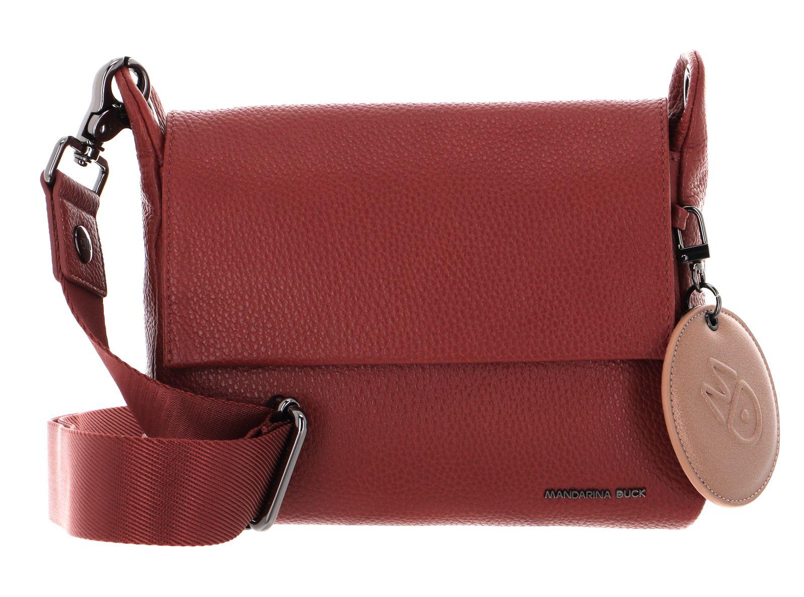MANDARINA DUCK Mellow Leather Crossover Bag S Mahogany