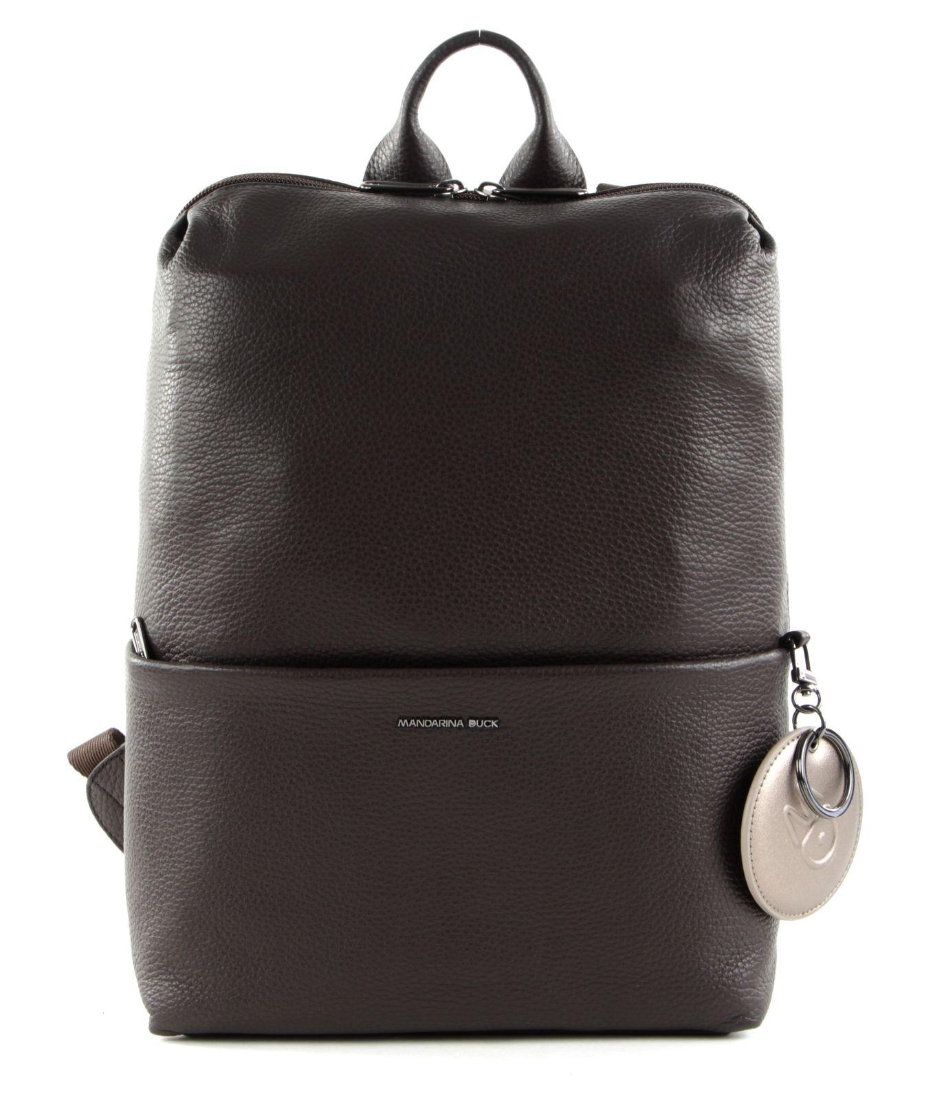 MANDARINA DUCK Mellow Leather Backpack Mole
