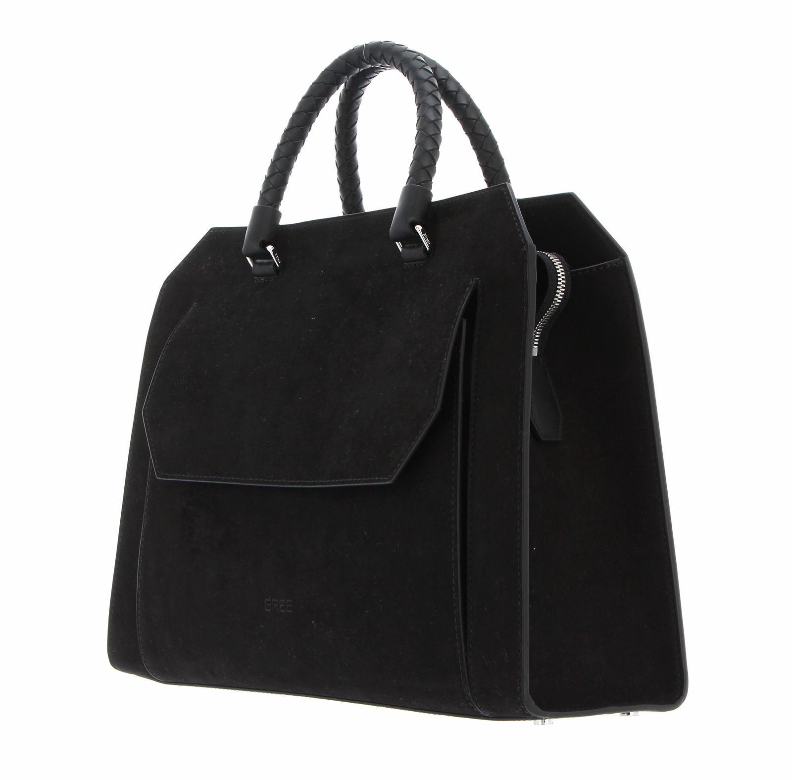 BREE Cambridge 13 Braided Top Handle Bag Black