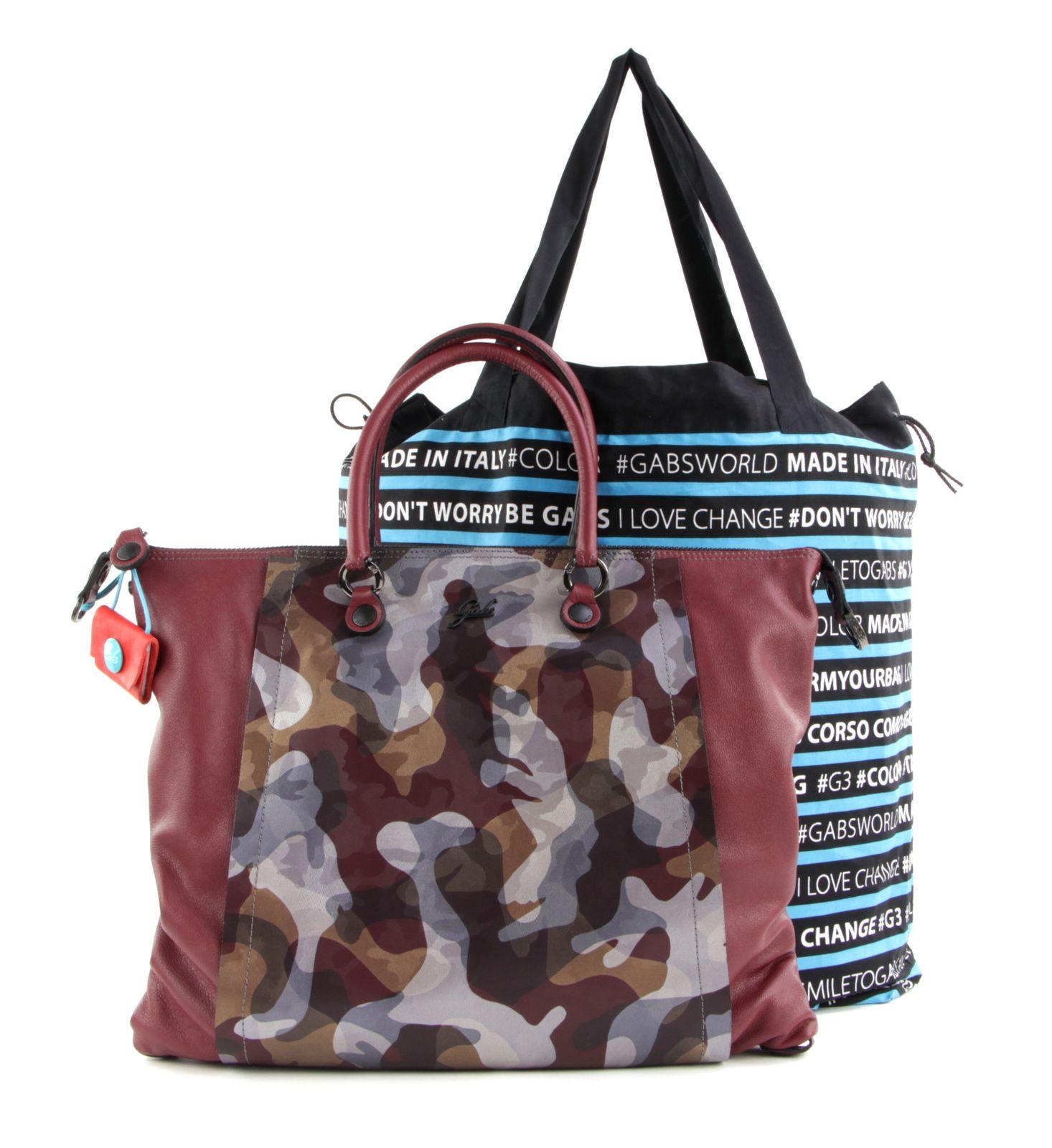 Gabs Bellona Flat Bag L Mosto + Mimetico Bordeaux
